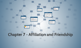 PSYC 208 - Chapter 7 - Affiliation and Friendship