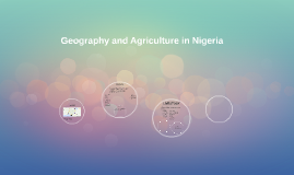Geography and agriculture in Nigeria