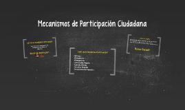 Copy of Mecanismos de Participación Ciudadana: Colombia
