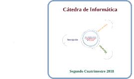 Inscripción Informática - Segundo Cuatrimestre 2018