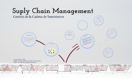 Suply Chain Management