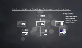 Implementación de Servidores Controladores de dominio