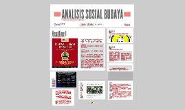 ANALISIS SOSIAL BUDAYA