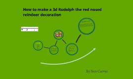 How to make a 3d Rudolph the red nosed reindeer ornament