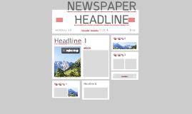 NEWSPAPER HEADLINE