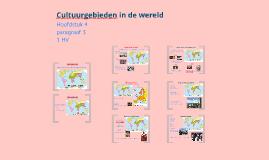 1HV H4 P3 Cultuurgebieden in de wereld