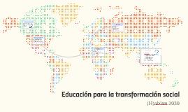 Estrategia  Educación para la transformación social