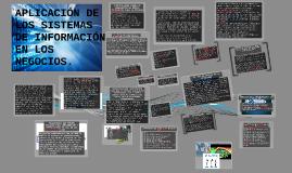 APLICACIÓN DE LOS SISTEMAS DE INFORMACIÓN EN LOS NEGOCIOS.