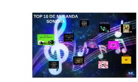 TOP 10 DE BANDAS SONORA