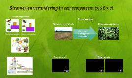 Stromen en verandering in een ecosysteem