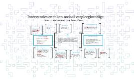 Interventies en taken sociaal verpleegkundige