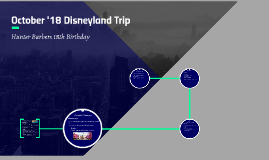 October '18 Disneyland Trip