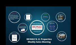 Weekly Sales Meeting, May 22, 2019