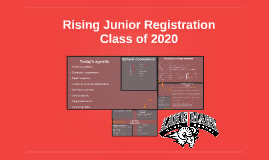 Rising 11th Grade Registration Presentation-Class of 2019