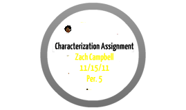 Characterization Assignment
