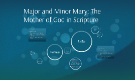 Minor Mary: The Mother of God in Paul and the Synoptics