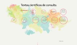 Textos científicos de consulta.