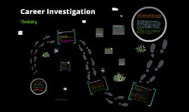 Career Investigation (ISP pt 1)