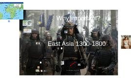 East Asia 1500-1800