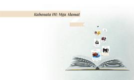 Kabanata III: Mga Alamat