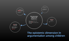 The epistemic dimension in argumentation among children