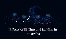 Effects of El Nino and La Nina in Australia