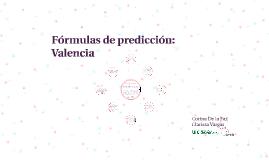 Fórmulas de predicción: Valencia