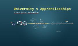 University v Apprenticeships