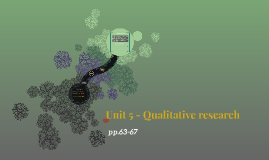 Unit 5 - Qualitative research
