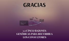 1.2 1.2 CINCO RAZONES GENÉRICAS PARA RECURRIR A LOS CONSULTO