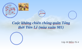 Cuộc kháng chiến chống quân Tống thời Tiền Lê
