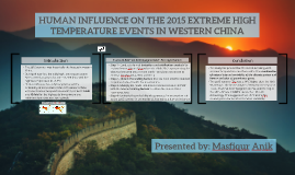 HUMAN INFLUENCE ON THE 2015 EXTRHIGH TEMPERATURE EVENTS IN W