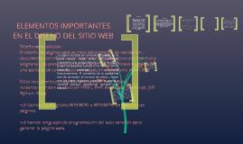 ELEMENTOS IMPORTANTES EN EL DISENO DEL SITIO WEB