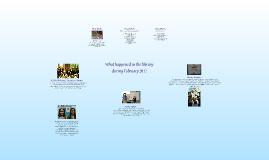 February 2011 Library Activity