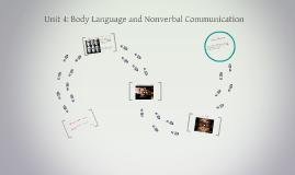 Unit 4: Body Language and Nonverbal Communication