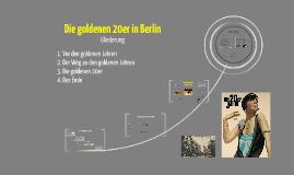 Die goldenen 20er In Berlin