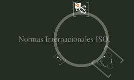 Normas Internacionales ISO
