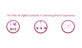 The Role of Digital Contacts in Delivering Brand Experience
