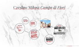 Czesław Miłosz Campo di Fiori
