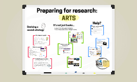 Arts 18/19 Preparing for research