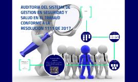 AUDITORIA DEL SISTEMA DE GESTION EN SEGURIDAD Y SALUD EN EL