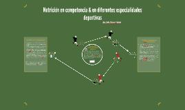 Nutrición en competencia & en diferentes especialeidades dep