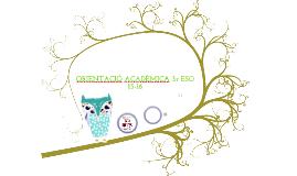 Orientació acadèmica i professional 3r ESO 14-15