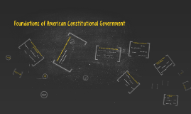 Foundations to American Constitutional Government