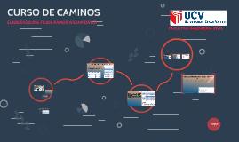 CURSO DE CAMINOS
