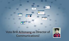 Vote Brill Aritonang as Director of Communications!
