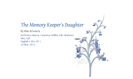 the memory keepers daughter Text complexity: lexile level: currently not available atos reading level: 58  submit your own qualitative measurements for the memory keeper's daughter.