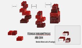 Copy of TÉCNICAS BIBLIOMÉTRICAS