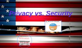 Privacy vs. Security