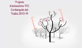 Pla Educatiu d'Entorn Cerdanyola del Vallès 2013-14